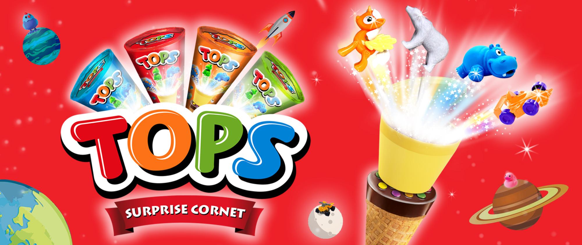 Tops Surprise Cornet Choco