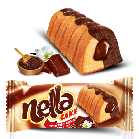Nella Marble Cake With Chocolate Filled