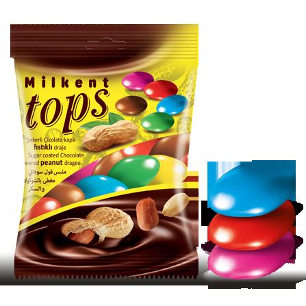 Tops Şekerli Çikolata Fıstıklı Draje